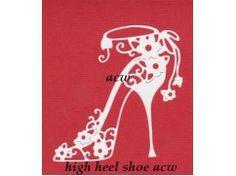 12) stansjes oplegkaartje 3x schoen  hoge hak