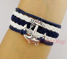 The Sailing Times Anchor Charm Anchor Bracelet