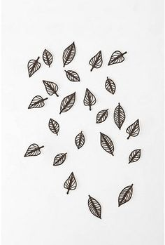 Falling Leaves Wall Decor - Set of 24.  http://re.pn/b/bB2L  $28.00 #20086716       COLOR:  BROWN  http://www.urbanoutfitters.com/urban/catalog/productdetail.jsp?itemdescription=true&itemCount=80&startValue=161&selectedProductColor=&sortby=&id=20086716&parentid=A_DECORATE&sortProperties=+subCategoryPosition,+product.marketingPriority&navCount=15&navAction=jump&color=&pushId=A_DECORATE&popId=APARTMENT&prepushId=&selectedProductSize=