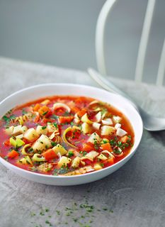 Doc Flecks Suppengrün-Fastensuppe Doc Fleck, One Pot, Ratatouille, Chili, Food Porn, Food And Drink, Low Carb, Soup, Ethnic Recipes