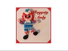Raggedy Andy Rainbow Loom Bands Charm Figure by Loomie World How to - YouTube
