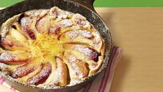 Dutch Babies as is commonly known in the Pacific N/W. I've come to love it for a special Saturday breakfast. I've tried it with pears & blueberries also. Drizzled with caramel is sinful!