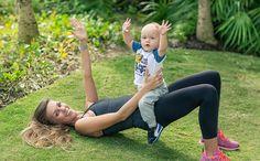 Модные мамы, современные родители, убрать живот послке родов, модная мама с сыном