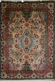 Handmade Tabriz Rug (Ref: 390) by Little-Persia. Wool with cotton foundation. From Iran.