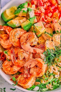 Lettuce Shrimp Avocado Salad - - This chunky shrimp salad with lettuce and avocado is a healthy and light meal, perfect for lunch or any night of the week! - by healthy dinner Healthy Lettuce Shrimp Avocado Salad Shrimp Avocado Salad, Avocado Salad Recipes, Best Salad Recipes, Salad Recipes For Dinner, Chicken Salad Recipes, Seafood Recipes, Cooking Recipes, Healthy Recipes, Shrimp Tacos