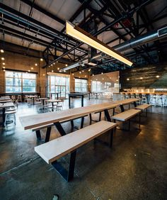 Before & After: Able Seedhouse + Brewery – Design*Sponge Brewery Interior, Brewery Decor, Brewery Restaurant, Bar Interior, Pub Decor, Interior Design, Pub Design, Brewery Design, Industrial Cafe