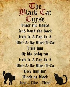 Here are the Halloween Quotes Cat. This article about Halloween Quotes Cat was posted under the Halloween Quotes category by our team at October 2019 at pm. Hope you enjoy it and don& forget to share this post. Halloween Spells, Halloween Poems, Retro Halloween, Disney Halloween, Couple Halloween Costumes, Spooky Halloween, Holidays Halloween, Diy Halloween Spell Book, Hocus Pocus Halloween Decor