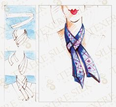 Casual Swing /  A lovely scarf tying style,ready in a manner of seconds. Suitable to be worn with any outfit, the minimal effort required to get this style ready is the cause of its immense popularity.