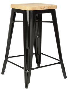 Replica Xavier Pauchard Tolix Stool 65cm (Ash Seat) main image