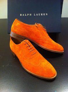 Orange Ralph Lauren Oxfords
