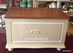 A 'Supervalu' blanket box gets a Makeover.in one day - Shabby. Blanket Box Makeover, Shabby Chic Mouldings, Hope Chest, Storage Chest, Furniture, Tutorials, Create, Home Decor, Diy