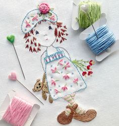 Hand embroidery pattern 'A Pocketful of por SewingRoomSecrets