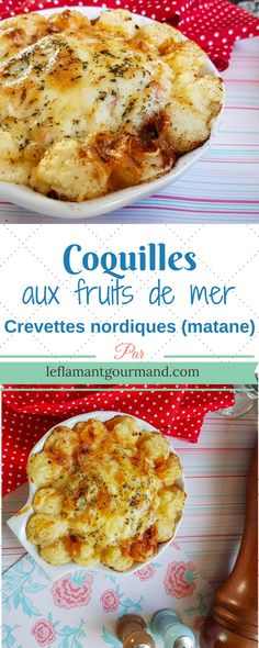 Coquilles aux fruits de mer (Pour la saison des crevettes nordiques) | Le flamant gourmand Fitness Gym, Food Festival, Fish And Seafood, Butternut Squash, Seafood Recipes, French Toast, Food And Drink, Lunch, Cooking