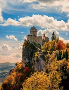 San Marino. While in Italy when I was a kid we went to the little microstate surrounded by Italy.  #mountain #castle #San Marino