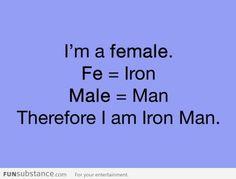 Female = Iron Man