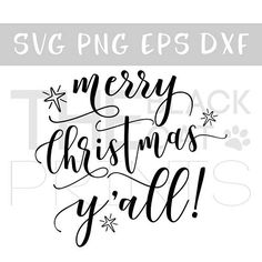 Merry Christmas Yall! SVG cutting files, Snowflakes svg cut, Winter svg files, Craft svg design, DXF files, Christmas svg, Svg files for cricut, svg cut files, Sayings svg, SVG Instant download This listing is for a vector SVG file for any compatible electric cutting machine. You will receive 4 files - SVG, DXF, EPS and PNG High quality 300 dpi in black color The size can be adjusted inside your cutting machine. Please note, this is an INSTANT DOWNLOAD. You will not receive this purchase…