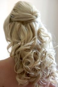 This is so my hair for the big day! He likes my hair down more than anything! - All For Bridal Hair Wedding Hair And Makeup, Bridal Hair, Hair Makeup, Hair Wedding, Dream Wedding, Wedding Beauty, Perfect Wedding, Wedding Bands, Wedding Stuff