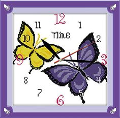 Good Value Cross Stitch Kits Beginners Kids Advanced Butterfly Clock 11 CT 15X15 DIY Handmade Needlework Set CrossStitching Accurate Stamped Patterns Embroidery Home Decoration Frameless -- You can get additional details at the image link.