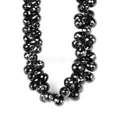 1 Line - Black Diamond Drops - 126.00 cts - 5.2 x 4.3 mm to 7.2 x 5.6 mm (DIADRP1026)   Beacab.com: Diamond Drops