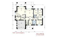 Projekt domu Goliat III , wizualizacja 4 Model House Plan, House Plans, Bungalows, Custom Built Homes, Home Fashion, Planer, Townhouse, New Homes, Floor Plans