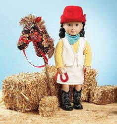 K3937, Giddyup Doll Clothes & Accessories Kwik Sew Patterns, Doll Sewing Patterns, Simplicity Sewing Patterns, Doll Clothes Patterns, Clothing Patterns, Cowgirl Outfits, Dolls For Sale, American Girl Clothes, Doll Toys