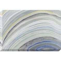 1-Piece 24-In W X 36-In H Frameless Canvas Abstract Print Wall Art 160