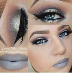 Love the gray lipstick