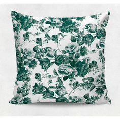 Almofada decorativa em tecido estampado - FLORAL EFFECT – 45cm X 45cm