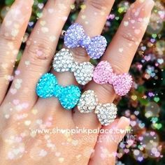 """Image of Mini Crystal """"Bow"""" Ring"""