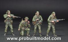 US Navy LSSC Seal Team 2 'Nam' Series team 4 figures in VietNam war 1/35 Pro Built