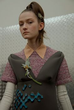 Prada AW15, Dazed backstage, Milan, Womenswear, shirt collar