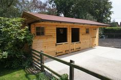 small two-stall stable with tack room This would work perfectly!