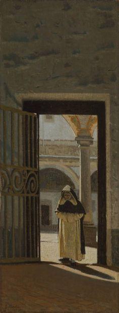 Giuseppe Abbati / Firenze, interno di un chiostro (San Marco), 1864-1865