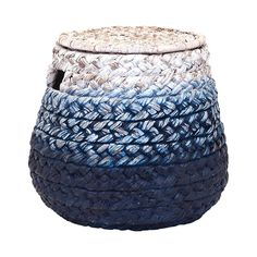 Keep extras charmingly tucked away in this gorgeous basket. Bearing a beautiful blue ombre effect, this Olas Woven Basket will make a stunning and vibrant addition to your contemporary or country chic ...  Find the Olas Woven Basket, as seen in the Rustic Mediterranean Style Collection at http://dotandbo.com/collections/rustic-mediterranean-style?utm_source=pinterest&utm_medium=organic&db_sku=112008