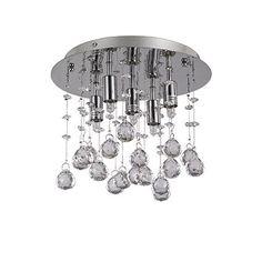 Ideal Lux mennyezeti lámpa - MOONLIGHT PL5 CROMO
