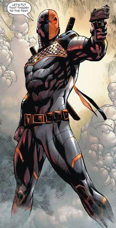 Deathstroke, my favorite villain/antihero Héros Dc Comics, Comics Anime, Comic Manga, Dc Comics Characters, Dc Deathstroke, Deathstroke The Terminator, Deadshot, Dc Heroes, Comic Book Heroes