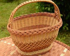 Handwoven Wicker Basket Handmade Willow Basket by WillowSouvenir
