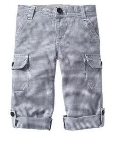 Woven gingham cargo pants | Gap