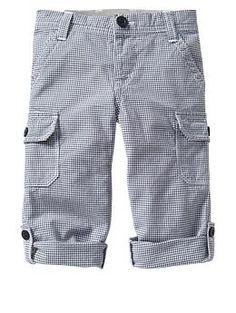 Woven gingham cargo pants | Gap