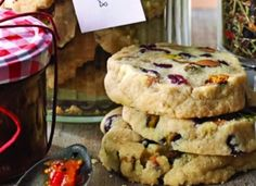 Pistachio & cranberry cookies - these crunchy, fruit & nut biscuits are sure to be a family favourite - make ahead and freeze, or wrap up for the perfect homemade gift Bbc Good Food Recipes, Sweet Recipes, Baking Recipes, Cookie Recipes, Dessert Recipes, Desserts, Bbc Recipes, Xmas Food, Christmas Cooking