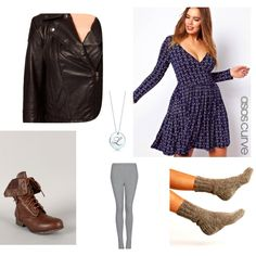 """""""Winterize a Dress"""" by cara-weidinger on Polyvore"""
