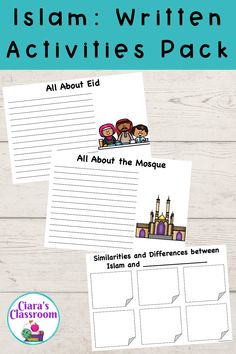 This pack would be perfect for exploring Islam as a World Religion. Your students can use the templates to guide their research and learning, as well as for writing informational texts about some important figures, objects and traditions for Muslims around the world. There are coloured and black and white versions included. Includes opportunities to learn about Islam, Eid, Alms, the Mosque, the Quran, the Hand of Fatima, the Imam, Misbaha Prayer Beads, Islamic Clothes, Prayer, Qiblah etc. Multicultural Classroom, Classroom Resources, Teaching Resources, Primary School Teacher, My Teacher, Inclusion Classroom, Informational Texts, Learn Islam, Classroom Community