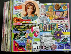 Art Journals 151363237449194647 - collage from magazines in art journal. just like how I used to do it in high school… Journal page by deLoto. Source by littlepotato Art Journal Pages, Art Journals, Education Journals, Art Education, Art Journal Inspiration, Art Inspo, Smash Book Inspiration, Journal Ideas, Altered Books
