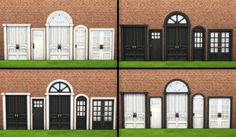 Mod The Sims: Mega door recolored series by simsessa • Sims 4 Downloads