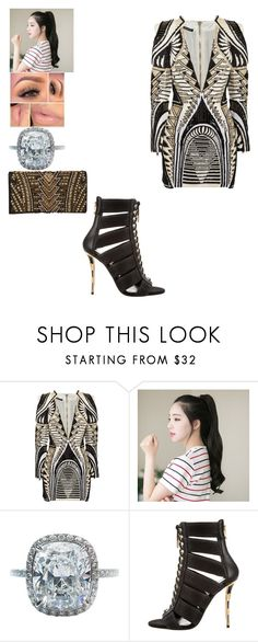"""""""Untitled #1654"""" by queensamsam ❤ liked on Polyvore featuring Balmain, GABALNARA and Harry Winston"""