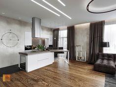 Фото интерьер кухни из проекта «Дизайн квартиры в современном стиле, ЖК «Смольный парк», 175 кв.м.»