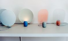Reflector and Gradient table lamps by Studio WM at Ventura Lambrate  Photography: Jessica Klingelfuss