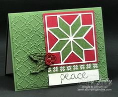If you make quilts or have ever been given one, you know they are stitched with love to wrap you in warmth. Quilts can take months to make, but you can make my Stampin' Up! Christmas Quilt card in minutes. Watch to see how easy it is to make my wrapped in love Christmas Quilt card.  Click...