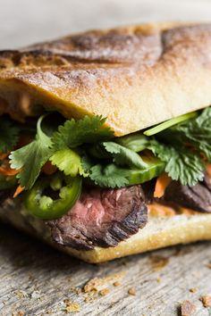 Vietnamese Skirt Steak Sandwiches