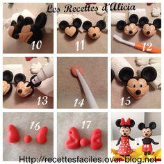 Tuto Mickey Minnie pate a sucre
